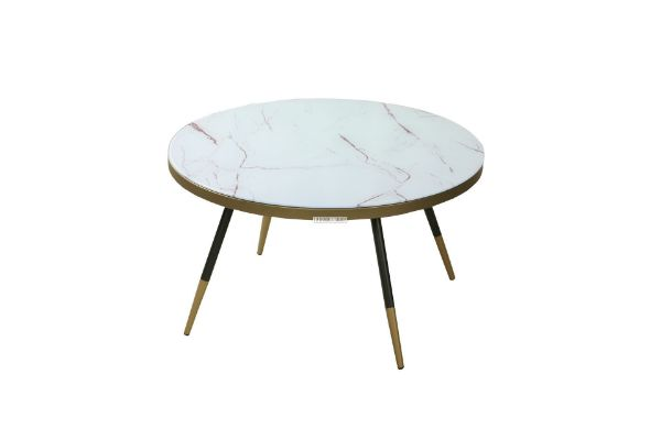 Picture of COLLIS 80 ROUND GLASS COFFEE TABLE