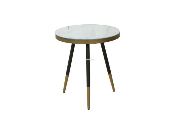 Picture of PARKER  ROUND GLASS SIDE TABLE