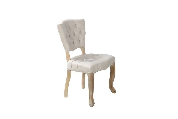 Picture of RENO DINING CHAIR BEIGE *SOLID OAK