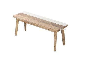 Picture of LEAMAN 120 Acacia Dining Bench