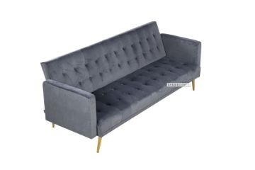 Picture of Sober 3 Seater Sofa Bed *Velvet Grey