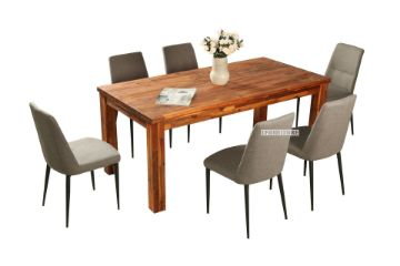 Picture of PHILIPPE 7pc Acacia Dining Combo *Rustic Java Color