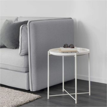 Picture of SASAKI SIMPLE END TABLE WITH REMOVABLE TRAY *WHITE