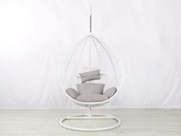 Picture of Albury Rattan Hanging Egg Chair *White