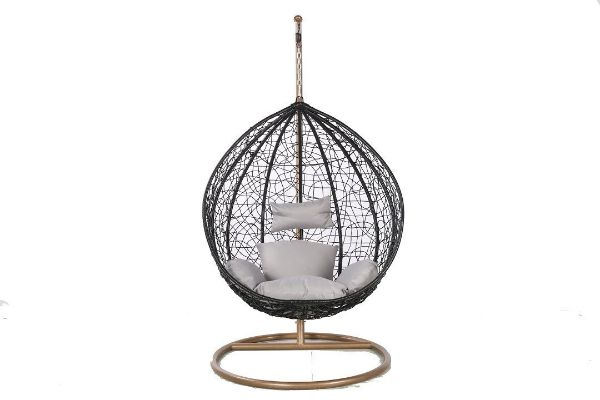 Picture of ALBURY Rattan Hanging Egg Chair *Black