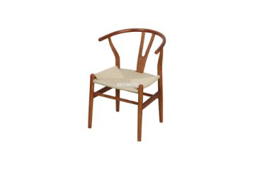 Picture of WISHBONE Solid Beech Y CHAIR REPLICA *Walnut Color