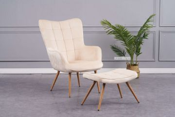 Picture of Whistler Lounge Chair with Ottoman *Beige