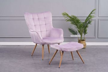 Picture of Whistler Lounge Chair with Ottoman *Purple