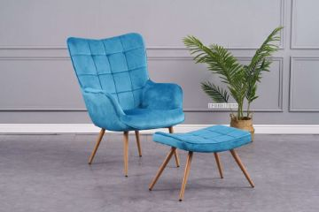 Picture of Whistler Lounge Chair with Ottoman *Blue