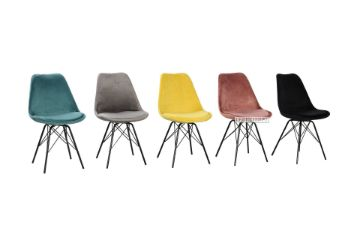 Picture of Gazel Dining Chair Black/Blue/Yellow/Green/Grey/Pink * Velvet