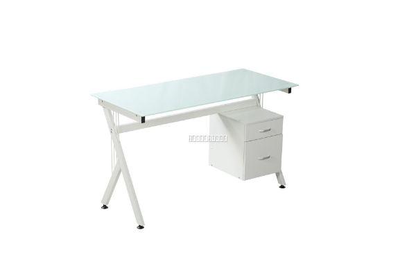 Picture of Archie 130 Glass Computer Desk *White