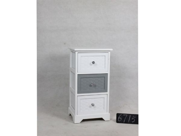 Picture of LEESA WOODEN CABINET WITH 3 DRAWERS