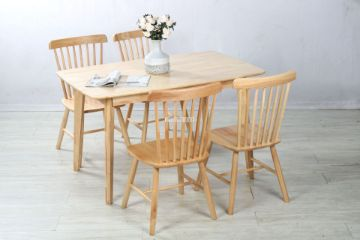 Picture of Windsor 5pc Dining Set *Rubber Wood