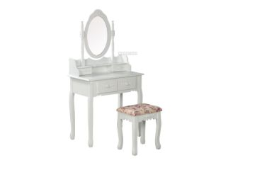 Picture of WATKINS DRESSING TABLE & STOOL * WHITE