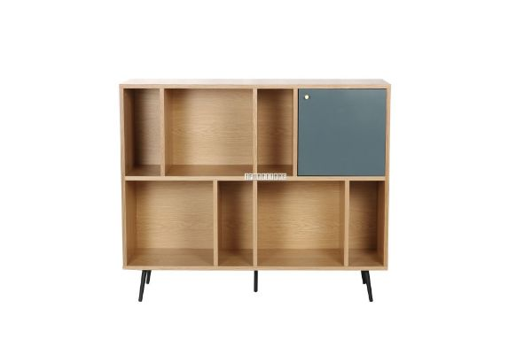 Picture of Rio 118 Bookcase *Solid Lacquer with real Light walnut veneer