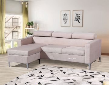 Picture of AMONA REVERSIBLE VELVET SECTIONAL SOFA