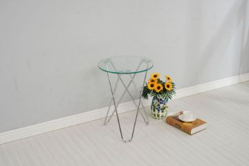 Picture of Hazlewood Round Clear Glass Side Table