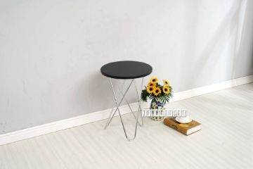 Picture of HAZLEWOOD Round  Side Table *Black Top Chrome Base