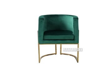 Picture of ZENA Curved Accent Chair* Green Velvet