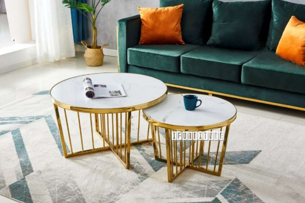 Picture of MONTROSE Marble Top Coffee/Side Table *Gold