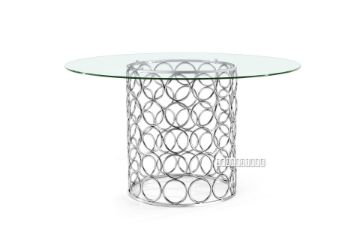 Picture of MARCANO Glass Top Dining Table *Silver stainless steel Frame