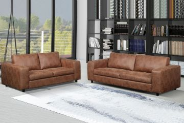 Picture of Athens 3.5+2.5 Sofa Range *Brown