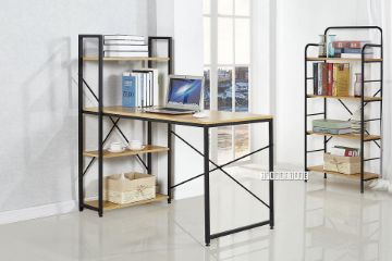 Picture of City 120 Desk -With Shelf *Black