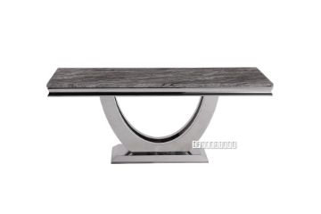 Picture of NUCCIO 180 MARBLE TOP STAINLESS STEEL Dining TABLE *DARK GREY