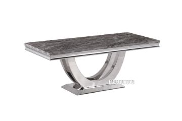 Picture of NUCCIO 120 Marble Top Stainless Steel Coffee Table *Dark Grey