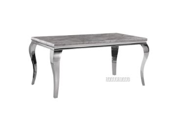 Picture of AITKEN 160 MARBLE TOP STAINLESS STEEL Dining TABLE *GREY