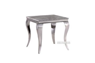 Picture of AITKEN MARBLE TOP STAINLESS STEEL End TABLE *GREY