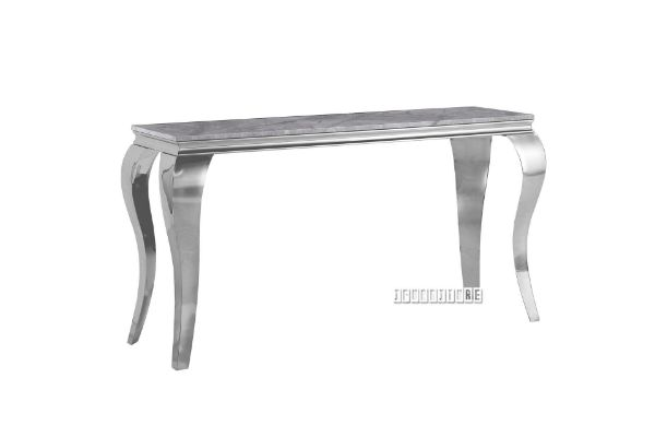 Picture of AITKEN 130 MARBLE TOP STAINLESS STEEL CONSOLE TABLE *GREY