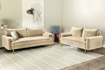 Picture of HENRY 3+2 Sofa Range *Beige Velvet