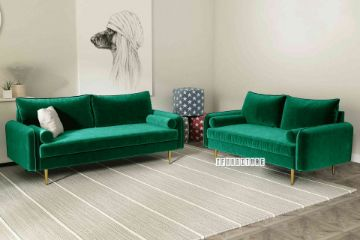Picture of HENRY 3+2 Sofa Range *Green Velvet