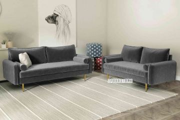 Picture of HENRY 3+2 Sofa Range *Grey Velvet