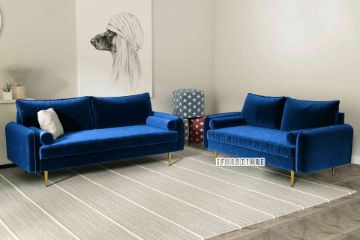 Picture of HENRY 3+2 Sofa Range *Space Blue Velvet