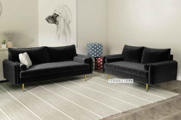 Picture of HENRY 3+2 Sofa Range *Black Velvet