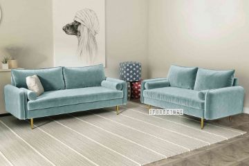 Picture of HENRY 3+2 Sofa Range *Light Greyish Cyan Velvet