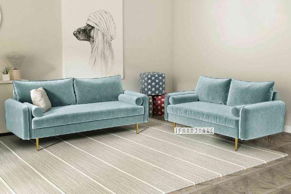 Picture of HENRY 3+2 Sofa Range *Light Greyish Cyan Velvet