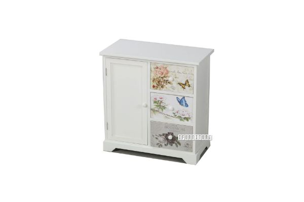 Picture of FLORIST 1DR 3DRW Painted Cabinet *White