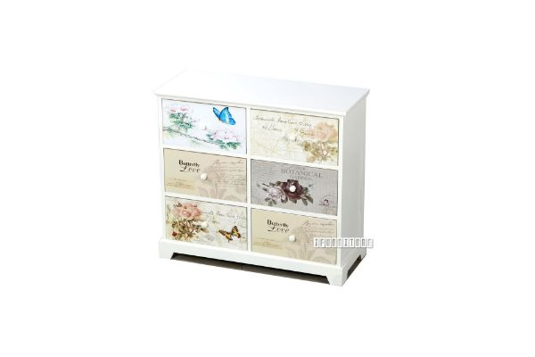 Picture of FLORIST Painted Cabinet With 6 Drawers *White