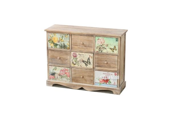 Picture of FLORIST Painted Cabinet With 9 Drawers