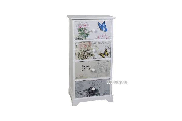 Picture of FLORIST Painted Cabinet With 4 Drawers *White