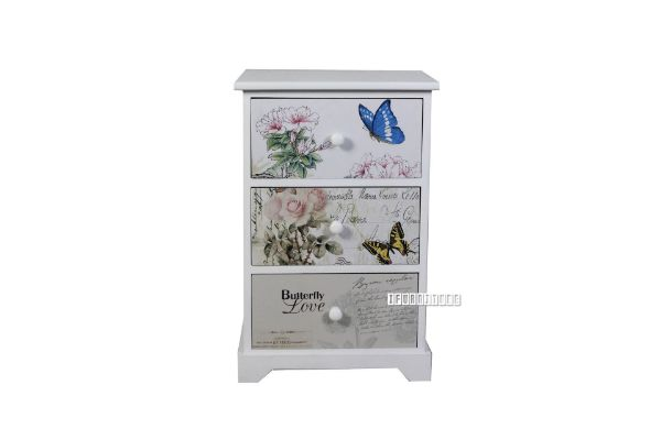 Picture of FLORIST Painted Cabinet With 3 Drawers *White
