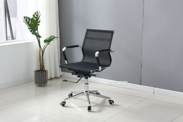 Picture of Replica Eames Low Back Chair  *Black Mesh