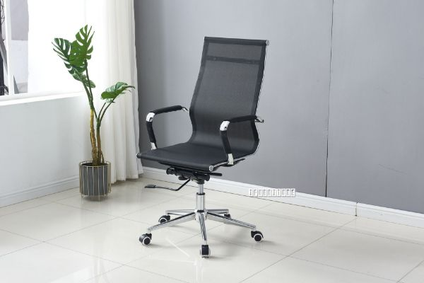 Picture of Replica Eames High Back Chair  *Black Mesh