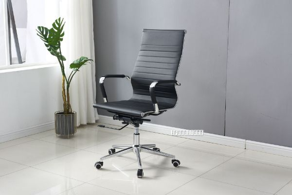 Picture of Replica Eames High Back Chair  *Black PU