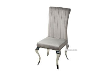 Picture of AITKEN Stainless Frame Dining Chair *Light Grey Velvet