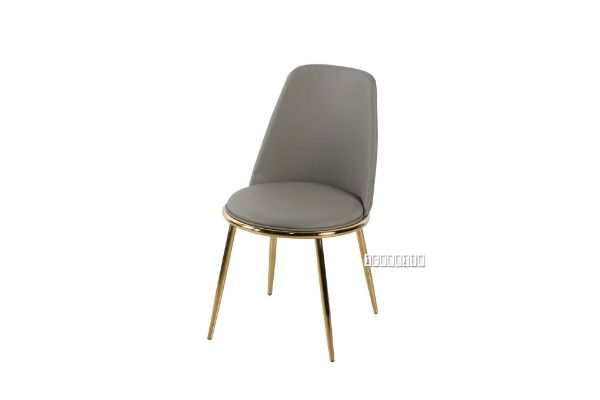 Picture of SYNE Gold Legs PU Dining chair *Grey