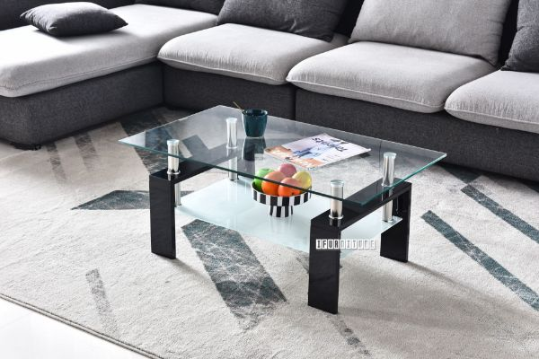 Picture of HORIZON Glass Coffee Table *Black